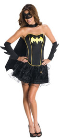 Ladies Batgirl Corset Tutu Fancy Dress Costume