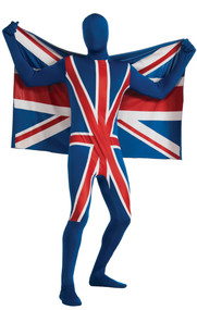 Mens Union Jack 2nd Skin Fancy Dress Costume