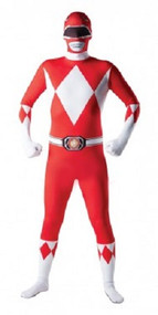 Mens Power Ranger 2nd Skin Fancy Dress Costume