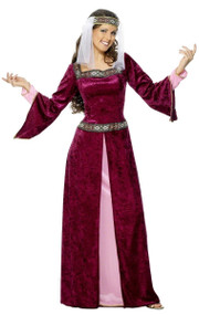 Ladies Maid Marion Fancy Dress Costume