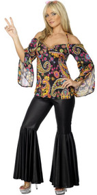 Ladies Hippy Flares Fancy Dress Costume