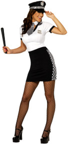 Ladies WPC Police Woman Fancy Dress Costume