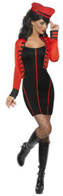 Ladies Military Pop Star Fancy Dress Costume