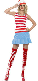 Ladies Where's Wally Fancy Dress Costume