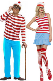 Couples Where's Wally Fancy Dress Costumes