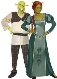 Couples Shrek Fancy Dress Costumes