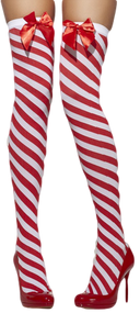 Ladies Candy Cane Stockings