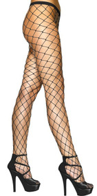 Ladies Black Diamond Net Tights