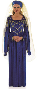 Ladies Tudor Lady Fancy Dress Costume