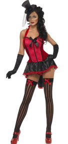 Ladies Burlesque Beauty Fancy Dress Costume