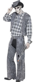 Mens Ghost Town Cowboy Fancy Dress Costume