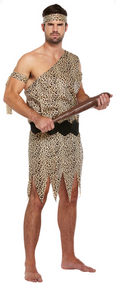 Mens Caveman Fancy Dress Costume