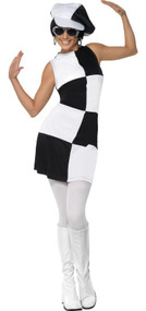 Ladies 1960s Party Girl Fancy Dress Costume