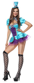 Ladies Totally Mad Hatter Fancy Dress Costume