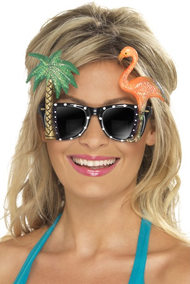Ladies Hawaiian Novelty Sunglasses