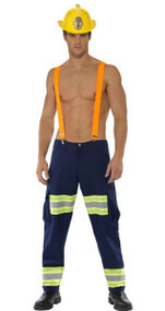Mens Sexy Firefighter Fancy Dress Costume