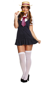 Ladies Sexy School Girl Fancy Dress Costume 2