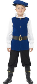 Boys Blue Tudor Fancy Dress Costume