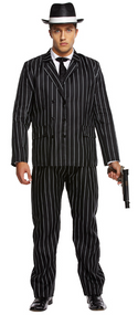 Mens Gangster Fancy Dress Costume 2