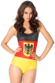 Ladies Germany Flag Swimsuit