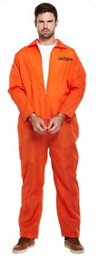 Mens Orange Prisoner Fancy Dress Costume