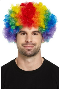 Adult Rainbow Clown Afro Wig