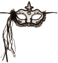 Ladies Lace Trim Masquerade Mask