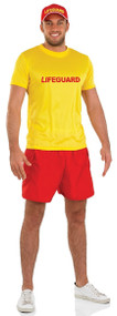Mens Lifeguard Fancy Dress Costume