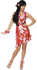 Ladies Hawaiian Beauty Fancy Dress Costume