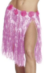 Ladies Pink Hawaiian Grass Skirt