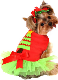 Dog Christmas Tree Fancy Dress Costume