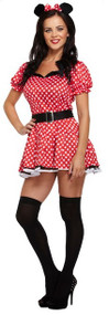 Ladies Miss Mouse Fancy Dress Costume