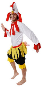 Mens Chicken Fancy Dress Costume