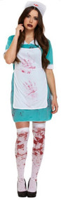 Ladies Bloody Nurse Fancy Dress Costume