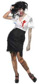 Ladies 'Worked to Death' Zombie Fancy Dress Costume