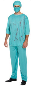 Mens Bloody Surgeon Fancy Dress Costume