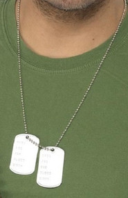 Adult Army Dog Tags Accessory