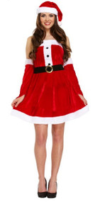 Ladies Sexy Santa Fancy Dress Costume 2