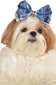 Dog Snowflake Hair Bow