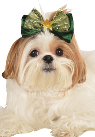 Dog Green Christmas Hair Bow