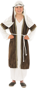 Boys Brown Shepherd Fancy Dress Costume