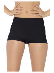 Ladies Black Stretch Hot Pants
