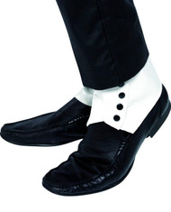 Mens White/Black Spats