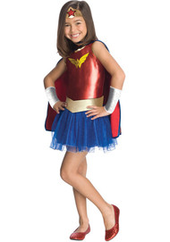 Girls Wonder Woman Fancy Dress Costume
