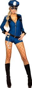 Ladies Miss Demeanor Police Fancy Dress Costume
