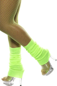 Ladies Neon Green Legwarmers