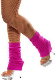 Ladies Neon Pink Leg Warmers