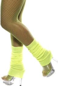 Ladies Neon Yellow Leg Warmers