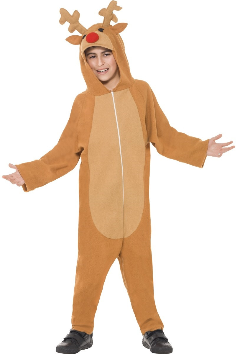 Child s Reindeer One Piece Fancy Dress Costume - Fancy Me Limited 64fc91ad0