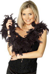 Ladies Black Feather Boa